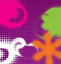 grunge halftone design vector image