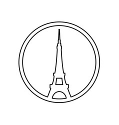 Eiffel tower architecture vector