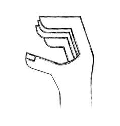 Hand human language icon vector