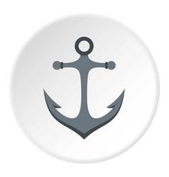 Anchor icon circle vector