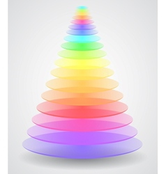 Color pyramid vector