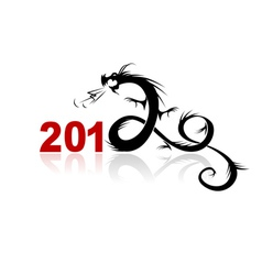 2012 year of dragon vector image