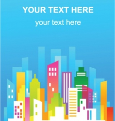 Colorful city real estate flyer vector