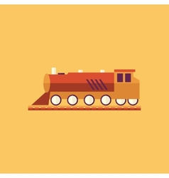 Train transportation flat icon vector