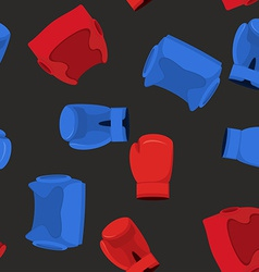 boxing gloves and helmet sports Seamless Pattern vector image