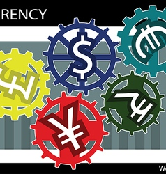 Currency gear vector