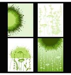 Grass card vector
