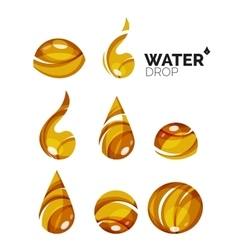Set of abstract eco water icons business logotype vector