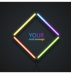 Colorful neon frame vector