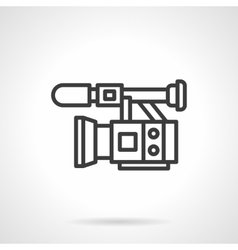 Professional video filming black line icon vector