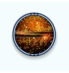 Disco wall border and soundwaves vector image