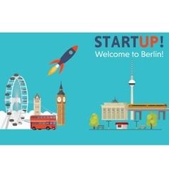 Sturtup welcome to berlin vector
