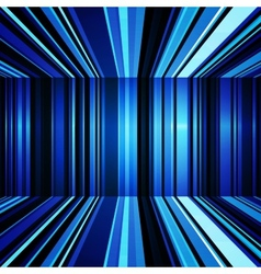 Abstract blue and white warped stripes background vector