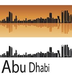 Abu dhabi skyline in orange background vector