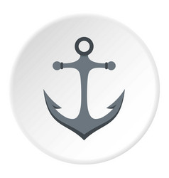 Anchor icon circle vector