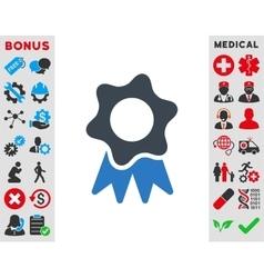 Award seal icon vector