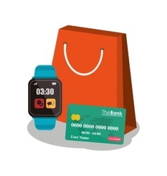 Bag payment and shopping design vector