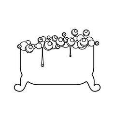 Bath tub isolated vector