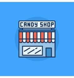 Candy shop flat icon vector image vector image