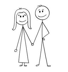 Cartoon of happy couple vector