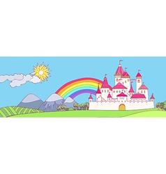 Castle landscape vector image vector image