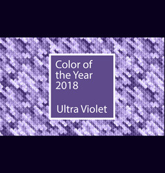 Color of the year 2018 ultra violet background vector