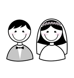couple of happy married isolated icon design vector image