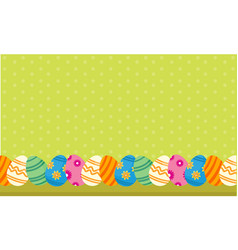 Easter egg lined style backgrounds vector