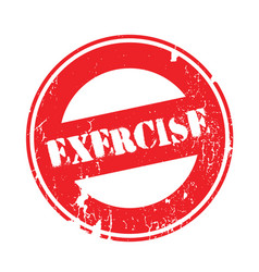 exercise rubber stamp vector image vector image