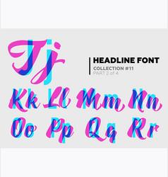 expressive decorative typography display type vector image