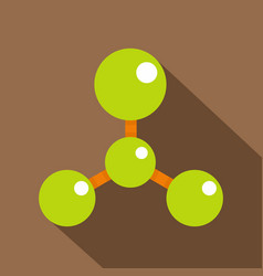 green molecule structure dna icon flat style vector image vector image