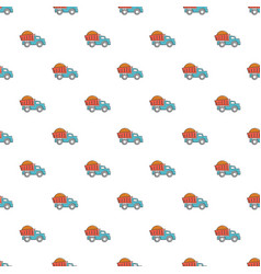 Heavy construction tipper pattern seamless vector