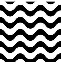 horizontal wavy lines seamless pattern vector image vector image