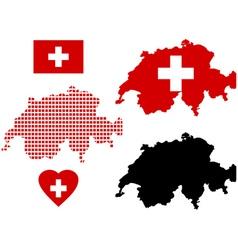 map of Switzerland vector image vector image