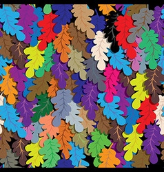 Oak leafs seamless background vector image