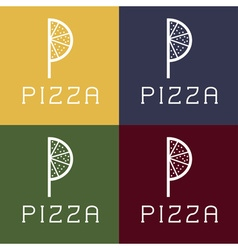 Pizza monogram vector
