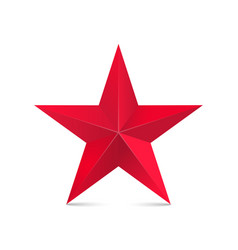 Red star 3d isolated on white vector