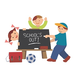 School is out vector image