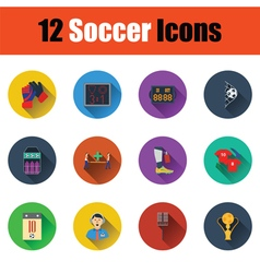 Set of soccer icons vector