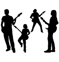 singing band vector image