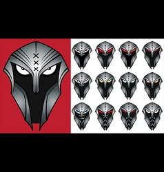 Spartan warrior face profile design vector