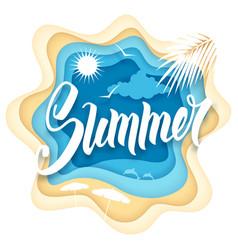 summer paper art vector image vector image