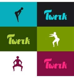 Twerk and booty dance background for dancing vector image vector image