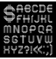 Font from scotch tape - roman alphabet vector