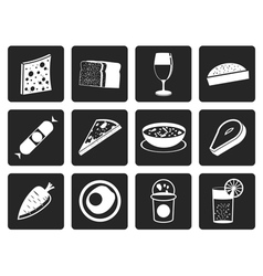 Black Shop food and drink icons 2 vector image