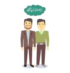 Happy gay lgbt men pair in love vector