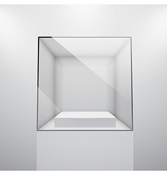 Glass showcase vector
