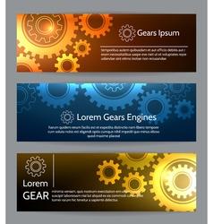 Digital engineering banner set teamwork or vector