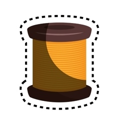Sewing threads isolated icon vector