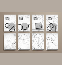 Set of brochure poster design templates in vector